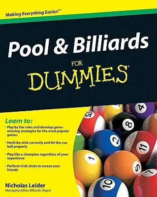 Pool & Billiards for Dummies By Leider, Nicholas Jane
